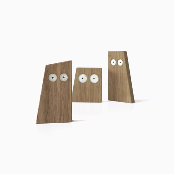CHOUETTES wooden animals trio - Designerbox - Design : Big-Game