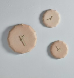 NOON Leather clock