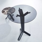 Glass TUBE standing table  3