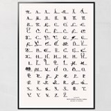 Animal Letters Poster  4