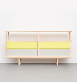SPLITTER Sideboard yellow, grey  2 x 1 + 1/2 SK2