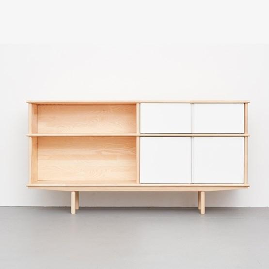 Enfilade SPLITTER blanc, 2 x 1 + 1/2 KT2 - Design : NEUVONFRISCH