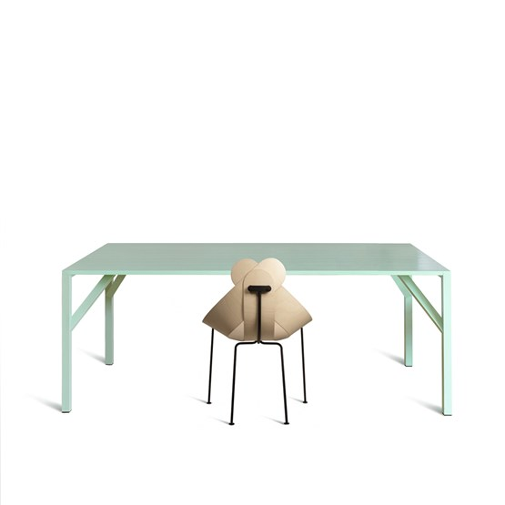 YEAN Rectangular Green Table - Design : Maarten Baptist