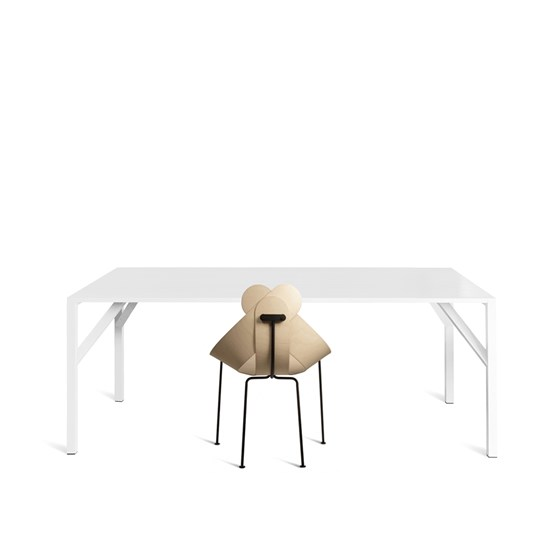YEAN Table rectangulaire blanche - Design : Maarten Baptist