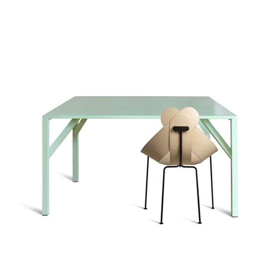 YEAN Table carrée verte - Design : Maarten Baptist