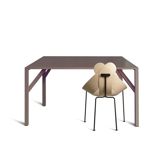 YEAN Table carrée brune  - Design : Maarten Baptist