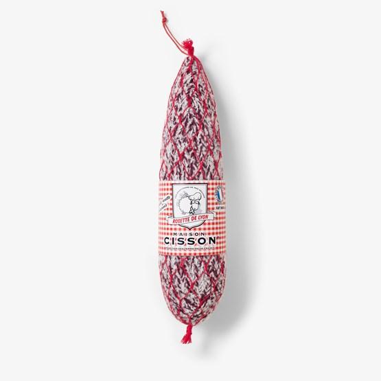 La rosette de Lyon 100% pur tricot - Filet rouge - Design : Maison Cisson