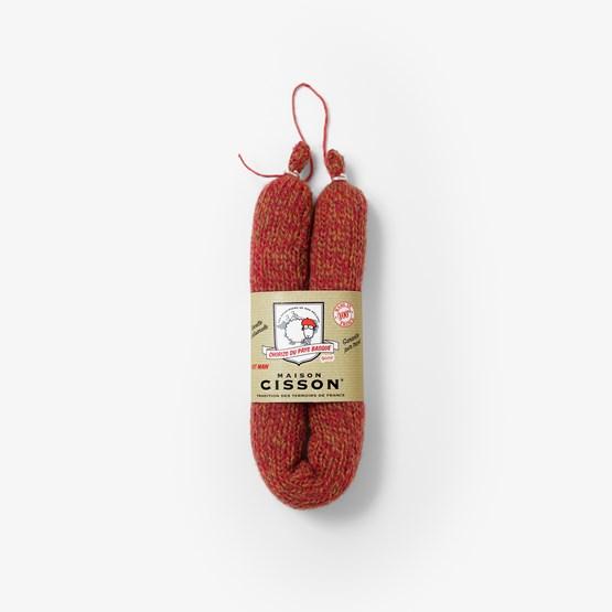 Le chorizo épicé du pays basque 100% pur tricot - Design : Maison Cisson