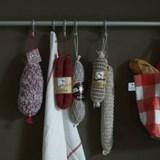 "100% knitted saucisson ""Jésus de Lyon"" - White netting 5"
