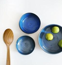 Assiette JEAN-EUDES bleue