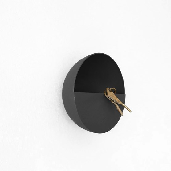 Patère / Vide-poche SPOK - Noire - Design : KOSKA