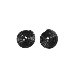 Liquorice candy earrings - black