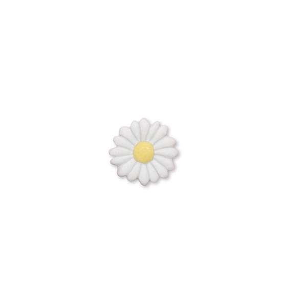 Daisy flower porcelain pin - Design : Stook Jewelry