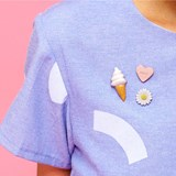 Soft ice cream porcelain pin 2
