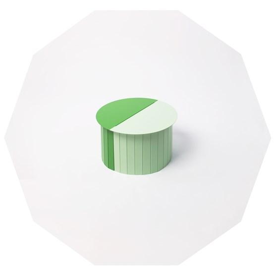 Table CAMILLE verte - Design : Aguibson