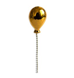 Lost Balloon porcelain pin - gold