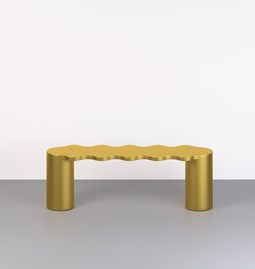 Hella bench - gold