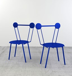 Set of 2 Haly chairs - blue