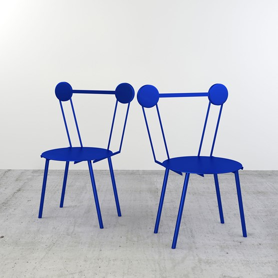 Set of 2 Haly chairs - blue - Design : Chapel Petrassi