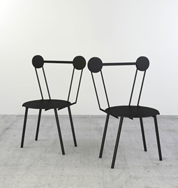 Set of 2 Haly chairs - black