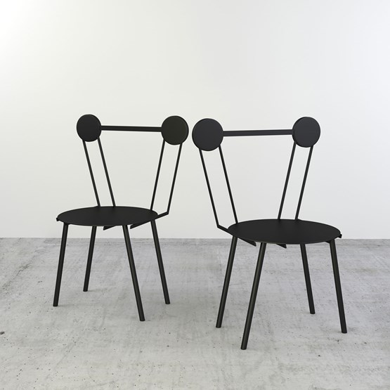 Set of 2 Haly chairs - black - Design : Chapel Petrassi