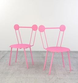Set of 2 Haly chairs - pink