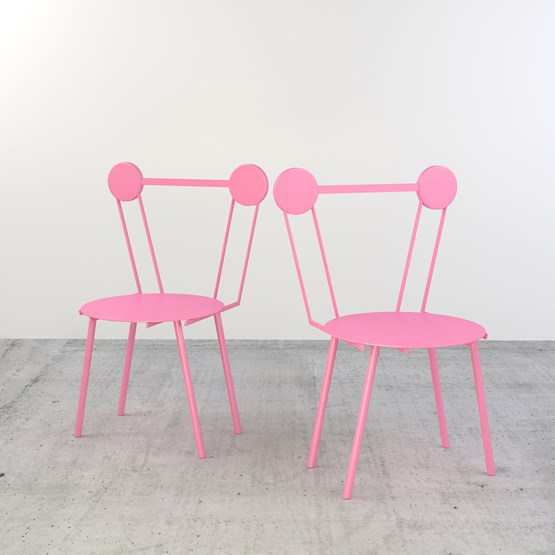 Set of 2 Haly chairs - pink - Design : Chapel Petrassi