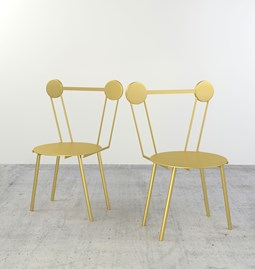 Set of 2 Haly chairs - gold