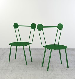 Set of 2 Haly chairs - green