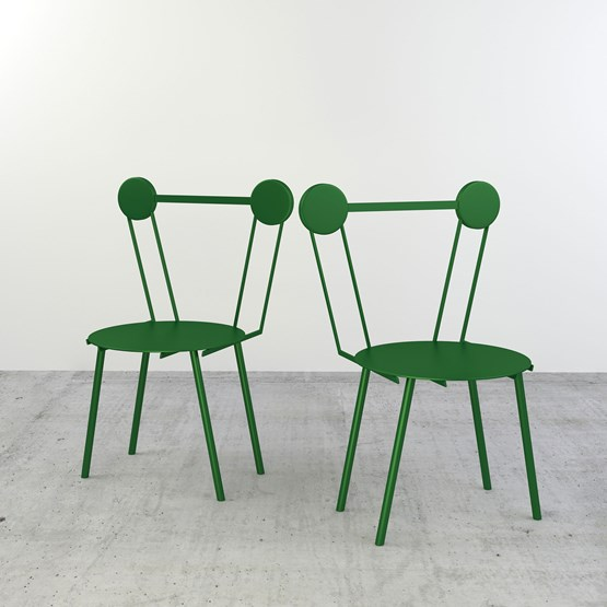 Set of 2 Haly chairs - green - Design : Chapel Petrassi