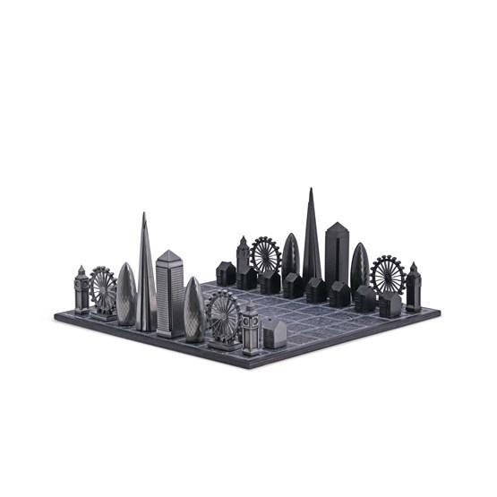 Premium Metal London Edition - Chess Game - Design : Skyline Chess