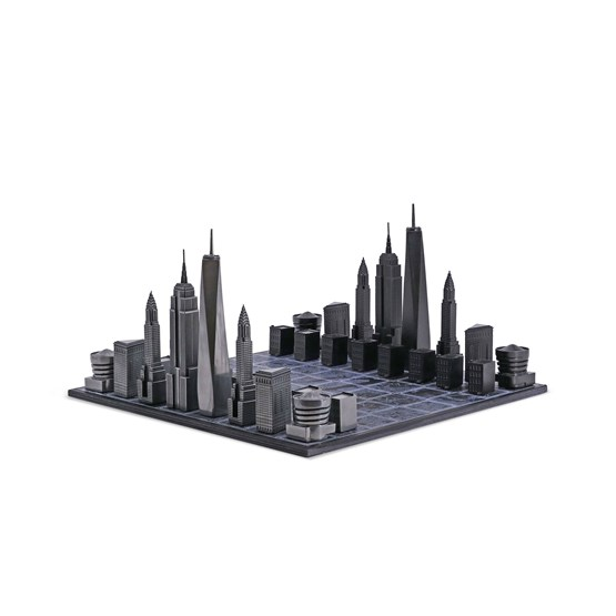Premium Metal New York Edition - Chess Game - Design : Skyline Chess