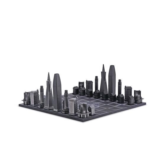 Premium Metal San Francisco Edition - Chess Game - Design : Skyline Chess