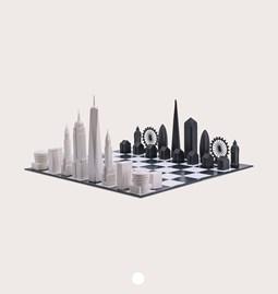 Jeu d'échec - Skyline Chess New York vs. London Special Edition