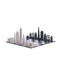 Jeu d'échec - Skyline Chess New York vs. London Special Edition