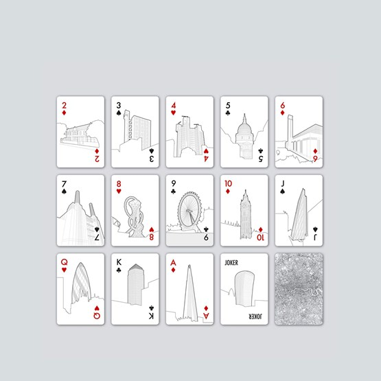 The London Edition - Playing Cards - Design : Skyline Chess