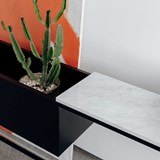 Console BOX MAXI - marbre blanc 6