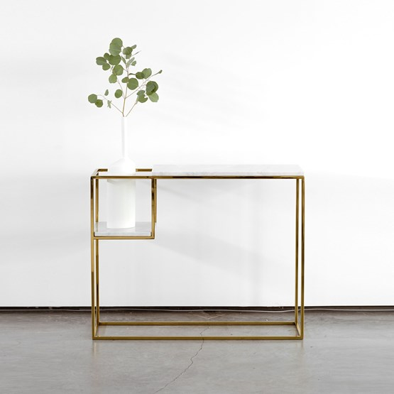 HOP MAXI console - white marble - Design : Un'common