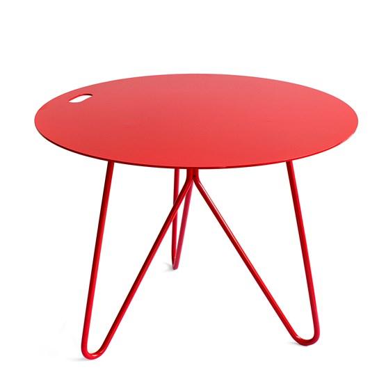 Table basse SEIS - rouge - Design : Galula Studio