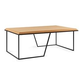 Table basse GRÃO | #1 - liège clair et piètement noir