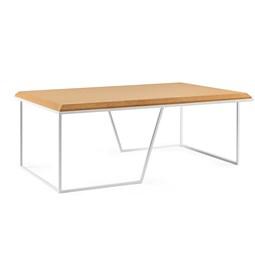 Table basse GRÃO | #1 - liège clair et piètement blanc