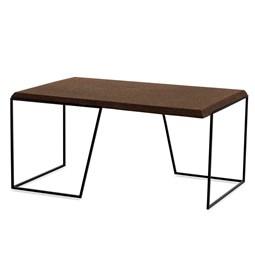 GRÃO | #1 coffee table - dark cork and black legs