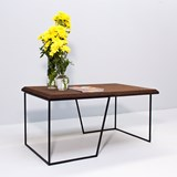 GRÃO | #1 coffee table - dark cork and black legs 5