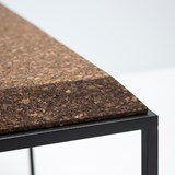 GRÃO | #1 coffee table - dark cork and black legs 6