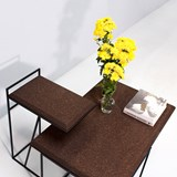 GRÃO | #1 coffee table - dark cork and black legs 7