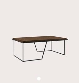 Table basse GRÃO | #1 - liège foncé et piètement noir