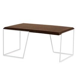 GRÃO | #1 coffee table - dark cork and white legs