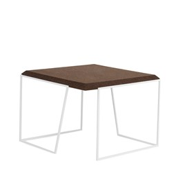 GRÃO | #2 coffee table - dark cork and white legs