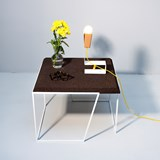 GRÃO | #2 coffee table - dark cork and white legs 5