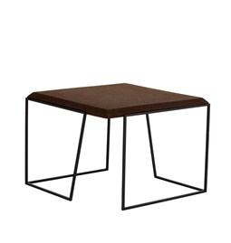 GRÃO | #2 coffee table - dark cork and black legs